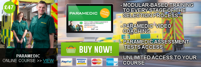 PARAMEDIC ONLINE LEARNING COURSE BANNER